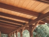 clear pine ceiling & balau structure